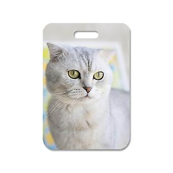 Cat Scottish Fold Sac mare pandantiv