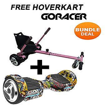 G PRO Hip Hop Segway with a Racer Hoverkart in Pink