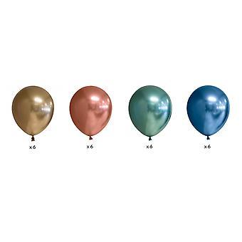 Chrome   Mirror   Reflex Effekt Ballonger 24-pack
