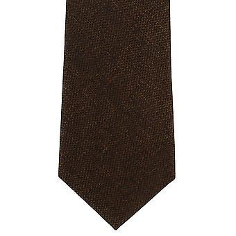 Paret av London korn Semi ren silke slips - Brown
