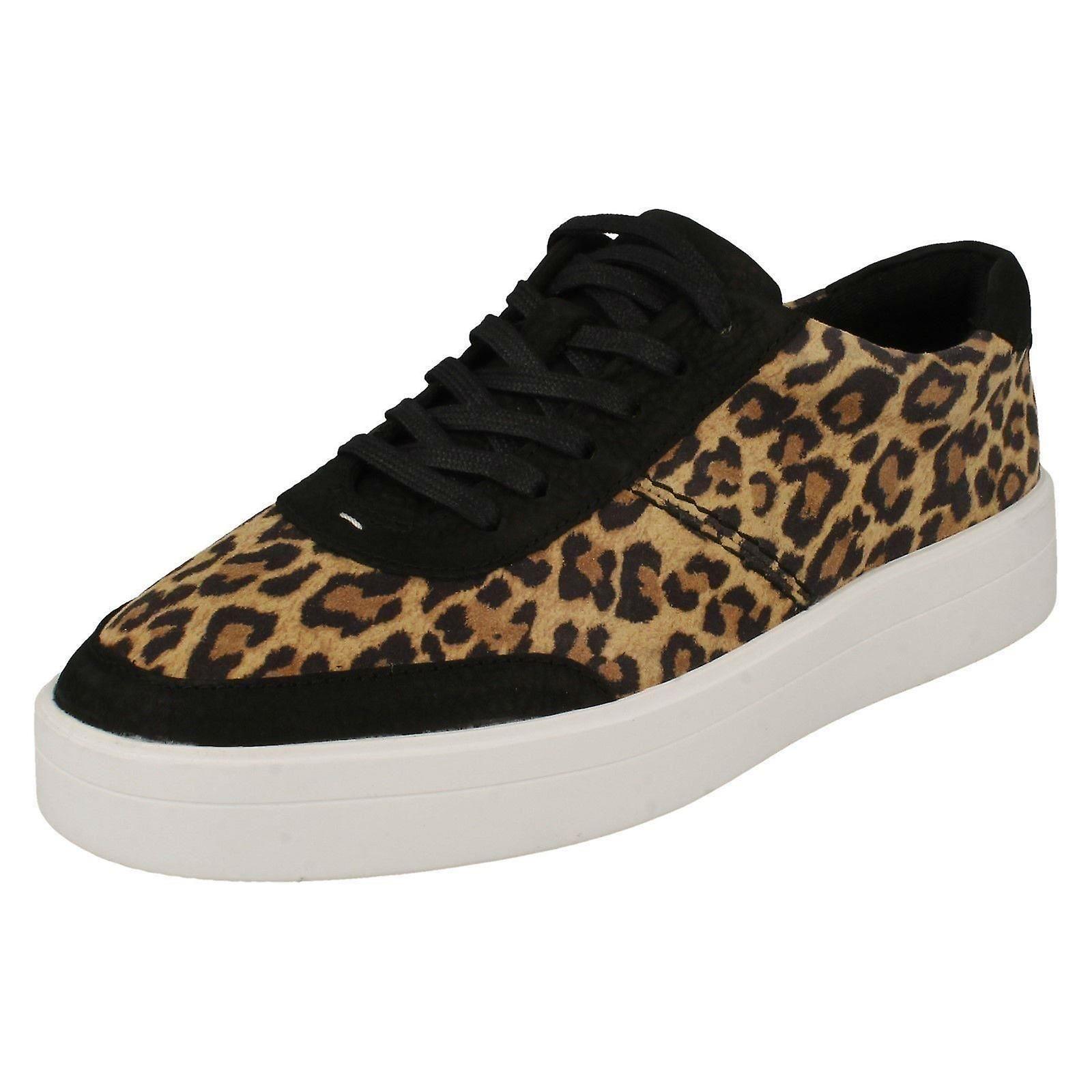 Ladies Clarks Animal Detailed Lace Up Shoes Hero Walk o2rPH