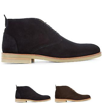 Mens H By Hudson Bedlington Cow Suede Work Office Formal Chukka Boots