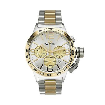 TW Steel CB33 Canteen Chronograph Mens Watch - Silver/Gold