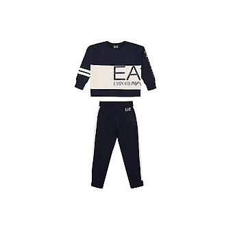 EA7 Girls Navy Blue Tracksuit