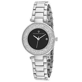Christian Van Sant Women's Dazzle Black Dial Watch - CV1211
