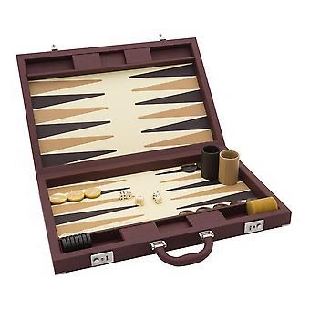 Dal Negro Luxury Backgammon Case in Brown