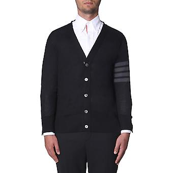 Thom Browne Mkc002a00014001 Men's Black Wool Cardigan
