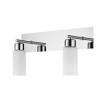 Lámpara de pared de agua color cromo, metal blanco, vidrio, L32xP12xA16 cm