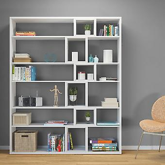 Libreria Sammie Color Bianco in Truciolare Melanimico di qualita' E1 150x29x184 cm