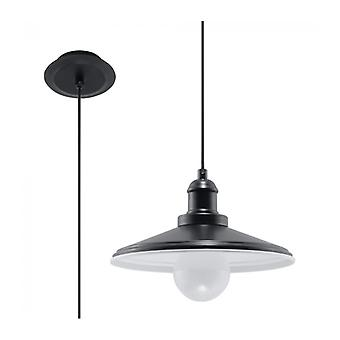 Mare Pendant Light Black Steel 1 Bulb