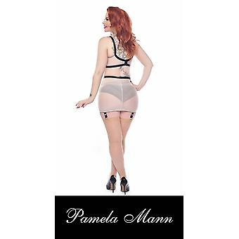 'Pamela Mann' Italiaanse Jive Seamed Nude Stockings (One Size) [ Past up