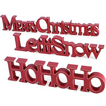 Wooden Christmas Sign - Let it Snow