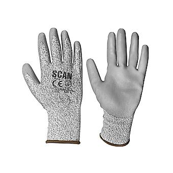 Scan Grey PU Coated Cut 3 Gloves - Extra Large (Size 10)