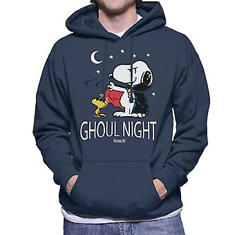Peanuts Ghoul Night Snoopy & Woodstock Men's Hooded Sweatshirt