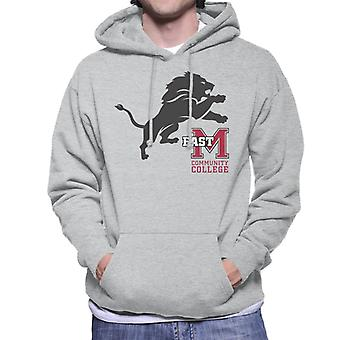 East Mississippi Community College Dark Lion Logo Men's Hooded Sweatshirt