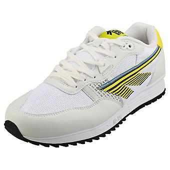 Hi-Tec Bw 146 Mens Fashion Trainers in Wit Geel