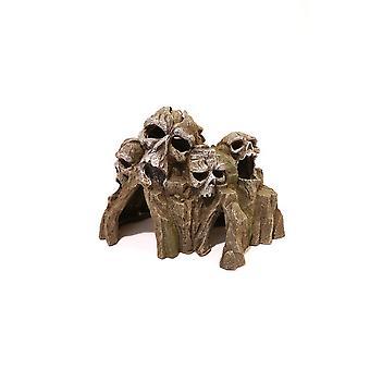 Rózsafa kék szalag Ruins roncsok és koponyák koponya Mountain
