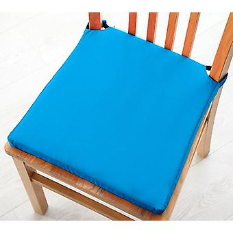Turquoise Seat Pad Cushions with Secure Fastening Dining Kitchen Chairs Soft Cotton Twill