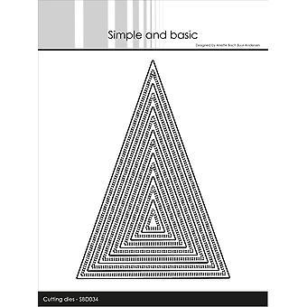 Enkel och grundläggande Dubbel Pierced Triangle Dies