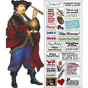 Papelería - Rembrandt - Tarjeta y hoja de pegatinas Nueva 0591
