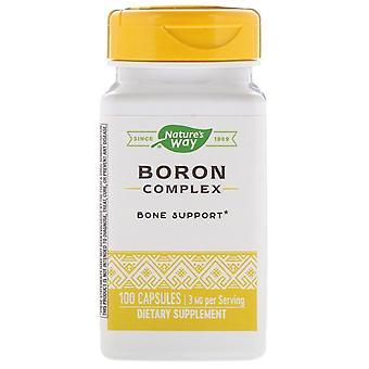 Nature-apos;s Way, Complexe bore, 3 mg, 100 Capsules