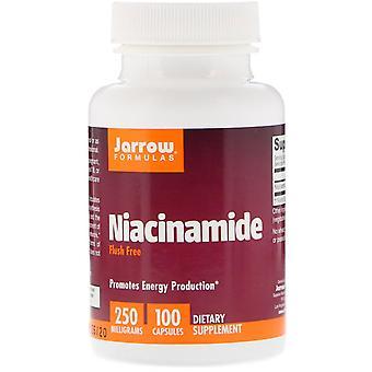 Formules Jarrow, Niacinamide, 250 mg, 100 capsules