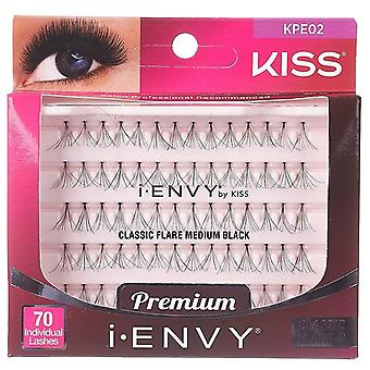 Kiss i-Envy Individual Flare Lashes - Classic Medium Black - Premium Clusters