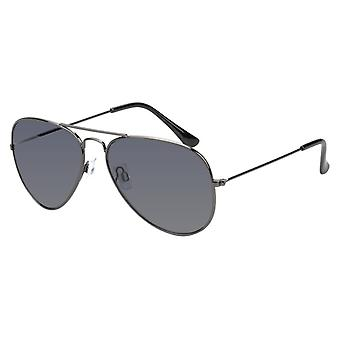 Sunglasses Unisex Grey with Green Lens (17-609 P)