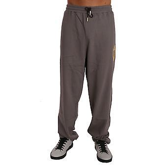 Hnedý bavlnený sveter nohavice tepláková súprava BIL1004-2
