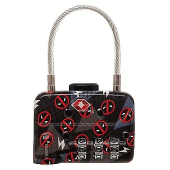 Combination Cable Lock - Marvel Deadpool TSA New ta5yjsmvu