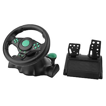 180 Degree Rotation Gaming Vibration Racing Steering Wheel With Pedals For Xbox 360 For Ps2 For Ps3