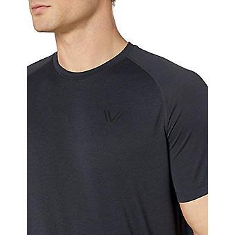 Peak Velocity Men's VXE Short Sleeve Quick-dry Loose-Fit T-Shirt, Black Heath...