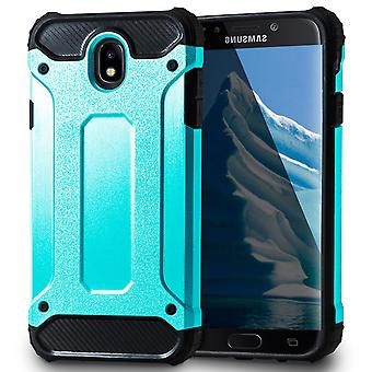 Mobile Protection for Samsung Galaxy J7 (2017) DUOS | Hard Hybrid Shell in Turquoise