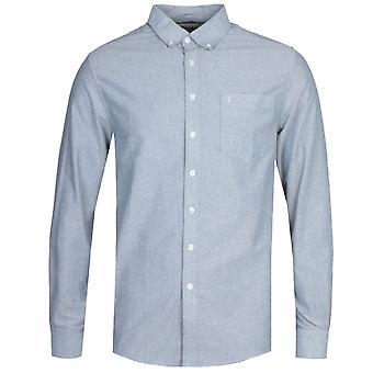 Chemise bleue à manches longues Farah Drayton