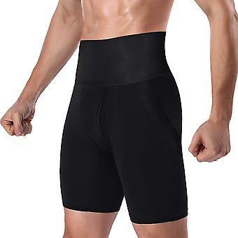 DoLoveY الرجال & s البطن شابر عالية الخصر الساق التحكم Shapewear الخصر التخسيس السراويل قصيرة الأسود