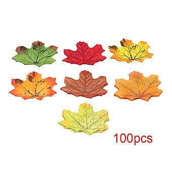 100sztuk Symulacja Jesienny Liść Klonu na wesela Wydarzenia 7cmx8cm