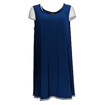 Attitudes van Renee Women's Top Como Jersey Sleeveless Tunless Tunisch Blauw A353138