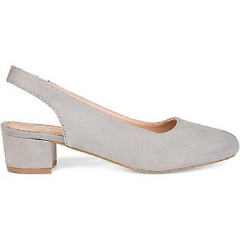 Brinley Co Women's Shoes zippy Closed Toe SlingBack Classic Pumps