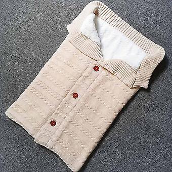 طفل حديث الولادة النوم كيس الشتاء الدافئة طفل بطانية صبي فتاة رضيع زر الصوف متماسكة سميكة