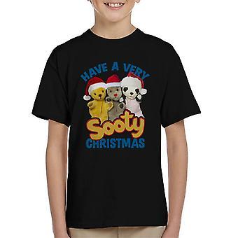Noke joulu on erittäin noe joulu sininen teksti Kid's T-paita