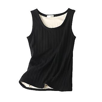 Térmica mujeres sin mangas tank top ropa interior caliente punto chaleco delgado