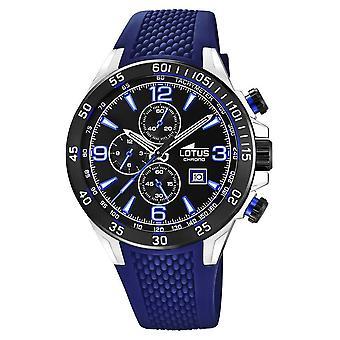 Lotus Men's Blue Silicone Strap | Black Chronograph Dial L18673/8 Watch