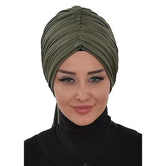 Amy - Taupe Bavlna Turban - Ayse Turban