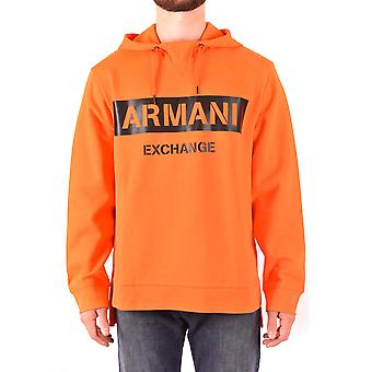 Armani Exchange Ezbc039165 Heren's Orange Cotton Sweatshirt