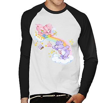 Hoito karhut cheer karhu ja jakaa karhu avaa sateenkaari men's baseball pitkähihainen t-paita