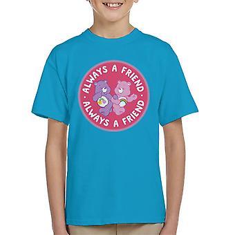 Cura orsi cheer orso e migliore amico orso sempre un amico kid 's T-Shirt