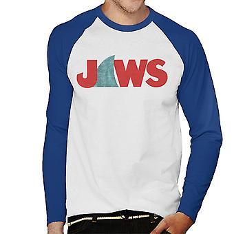 Jaws Shark Fin Logo Men's Baseball Long Sleeved T-Shirt
