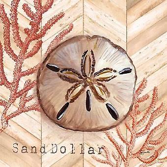 Chevron Schalen Coral II Poster Print von Tre Sorelle Studios