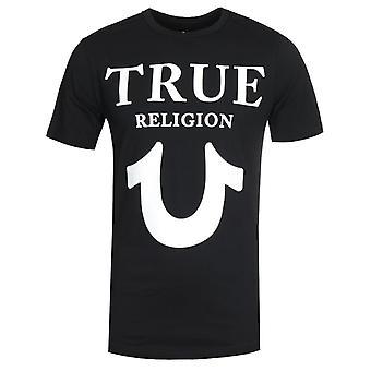 Wahre Religion Logo schwarz Rundhals T-Shirt