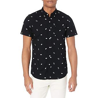 Brand - Goodthreads Men's Slim-Fit Short-Sleeve Tryckt Poplin Shirt, ...